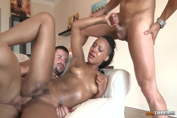Ebony Slut Double Penetration