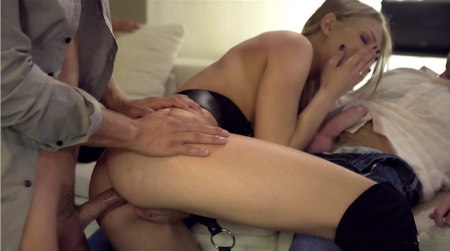 DorcelClub 17 02 24 cara st germain and lucy heart get fucked by 4 men